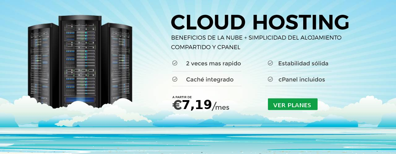 CLOUD HOSTING ASEQUIBLE Y CONFIABLE